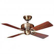 Hunter Fan 24174 107 cm Bayport Ceiling Fan - Antique Brass [Energy Class A]